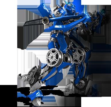 transformer azul